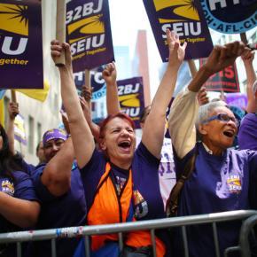 SEIU workers rejoice